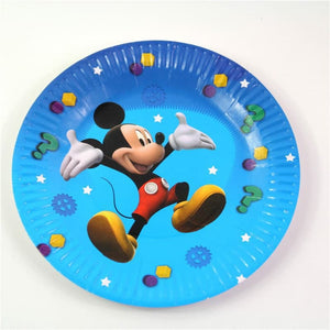 Mickey Mouse Themed Blue Paper Plate Ideal For Birthday Parties