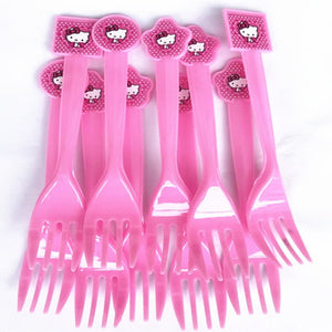 Hello Kitty Themed Kiddie Party Plastic Forks