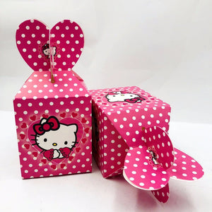 Cute Polka dots Hello Kitty Party Loot Box