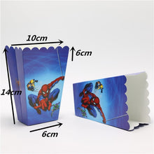 Load image into Gallery viewer, 6 PCS. Spiderman Theme Kiddie Party Popcorn Box