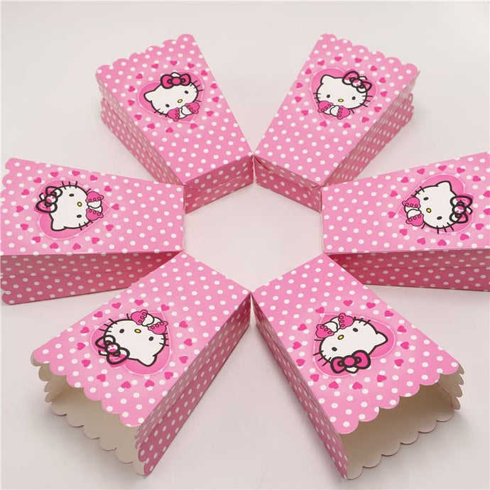 Cute Baby Pink Hello Kitty Popcorn Box