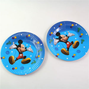 10 PCS. Mickey Mouse Themed Blue Paper Plate Ideal For Birthday Parties