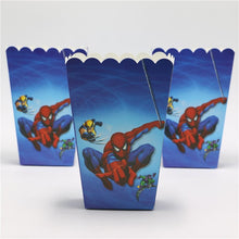 Load image into Gallery viewer, Spiderman Theme Kiddie Party Popcorn Box