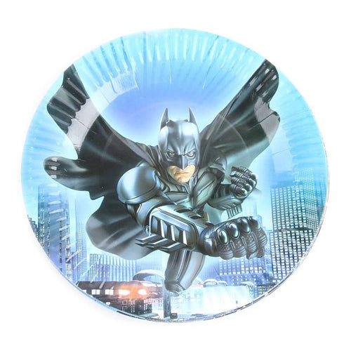 Batman Themed Blue Paper Plate For Party Celebrations