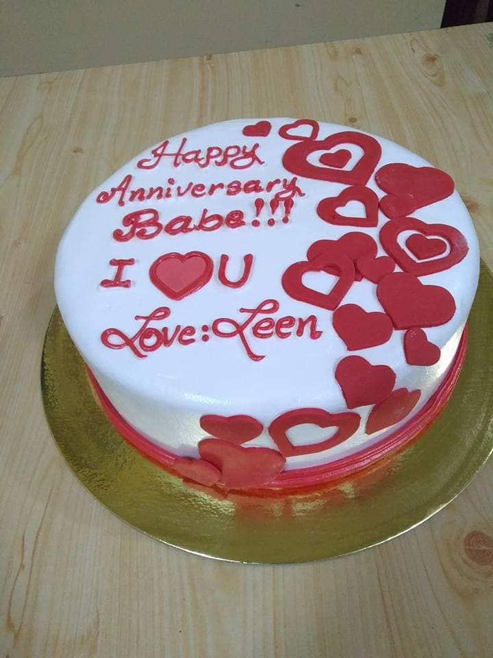 Single Layer Personalized Babe Love Cake