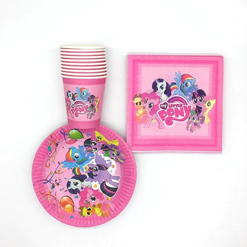 Pony Paper Party Plates, Cups and Napkins - Set