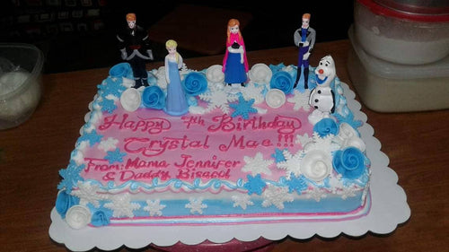 Frozen Theme Rectangular Birthday Cake