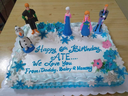 Frozen Themed Rectangular Birthday Cake