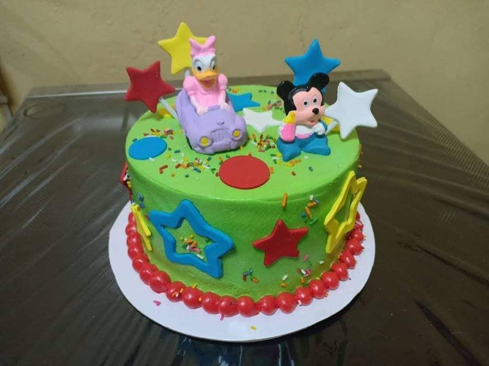 Mickey Mouse Themed Personalized Birthday Party Cake