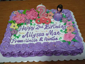 Rectangular Personalized Cake
