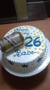 Single Layer Personalized Beer Can Cake