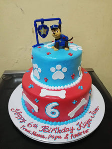 Two Layer Round Personalized Cake