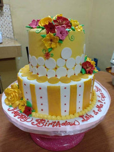 Two Layer Personalized Yellow Cake