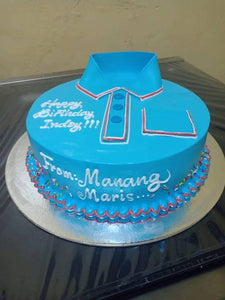 Single Layer Collard Shirt Personalized Cake