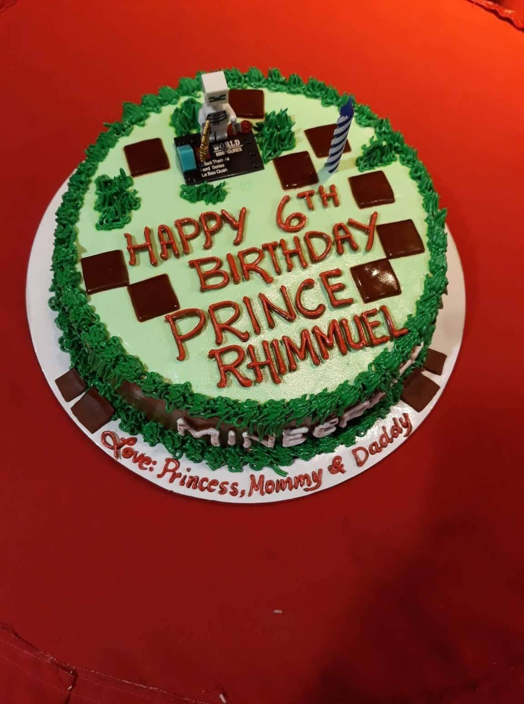Single Layer Round Personalized Cake
