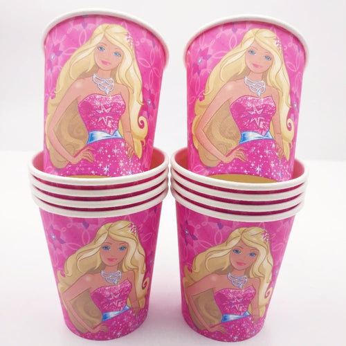 Barbie Themed Pink Party Cups