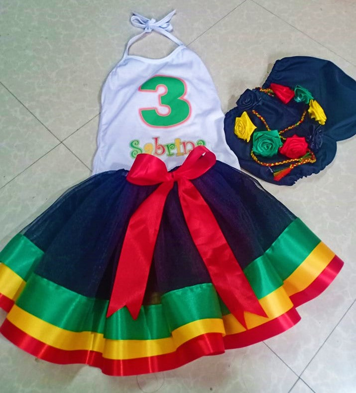 Reggae Birthday Party Tutu Outfit Set