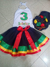 Load image into Gallery viewer, Reggae Birthday Party Tutu Outfit Set