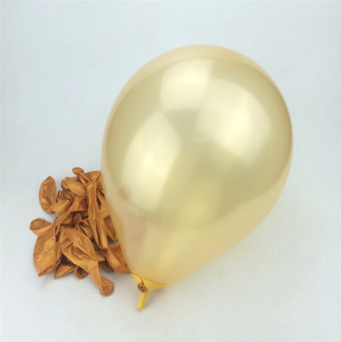 Gold Latex Helium Balloon for Party Celebrations