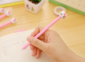 Writing With Cute Hello Kitty Themed Colored Gel Pen