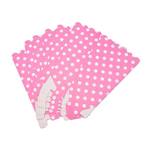 6 PCS.  Polka Dots Pattern Popcorn Box