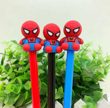 Load image into Gallery viewer, Red, Black and Blue Spider Man Themed Gel Pen