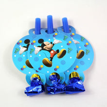 Load image into Gallery viewer, 6 PCS. Mickey Mouse Noise Maker/Whistle Blowouts Party Decoration
