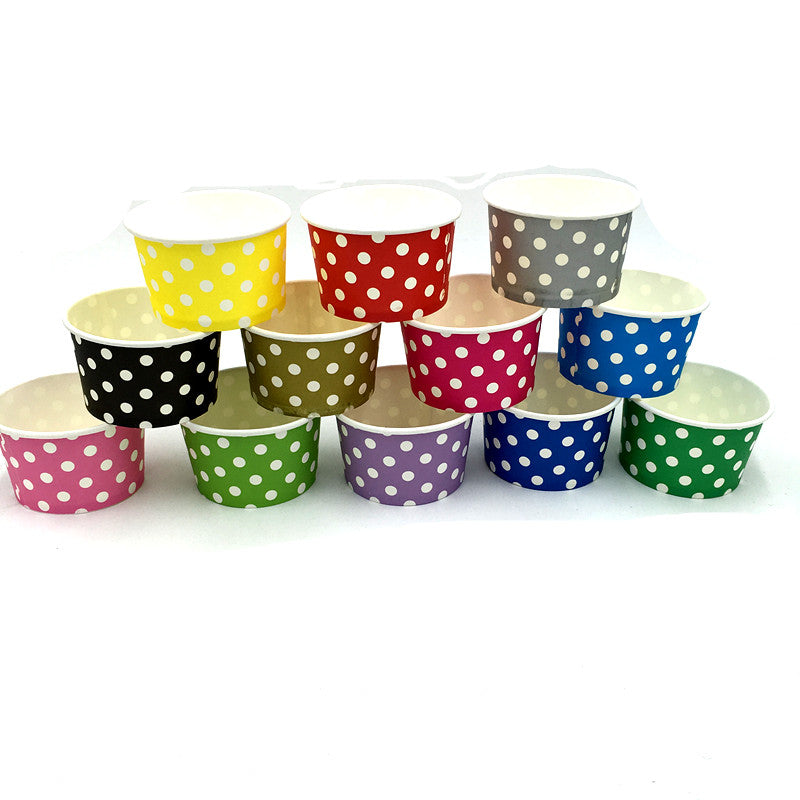 Colorful Polka dots Themed Ice Cream / Soup Cups