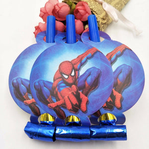 6 PCS. Spiderman Noise Maker/Whistle Blowouts Party Decoration