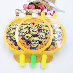 6 PCS. Minions Noise Maker/Whistle Blowouts Party Decoration