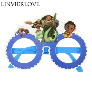 Moana Theme Kiddie Party Paper Wear Glasses