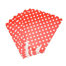 Load image into Gallery viewer, 6 PCS.  Polka Dots Pattern Popcorn Box