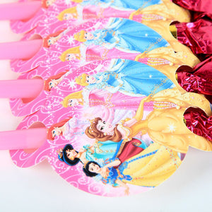 6 PCS. Disney Princess Noise Maker/Whistle Blowouts Party Decoration