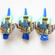 Load image into Gallery viewer, 6 PCS. Batman Noise Maker/Whistle Blowouts Party Decoration