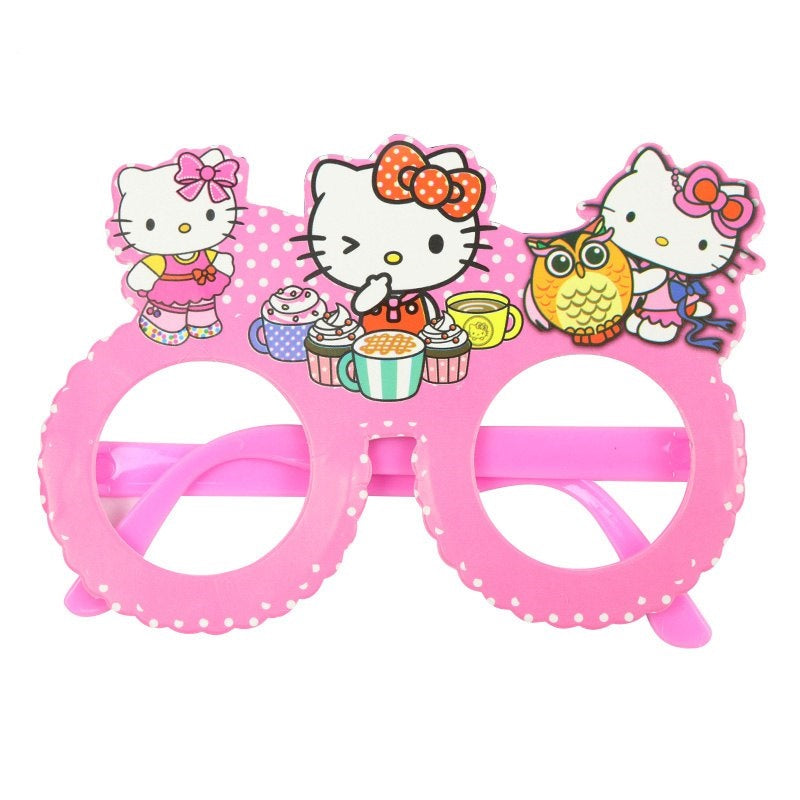 Cute Pink Colored Hello Kitty Kiddie Paper Wear Glasses