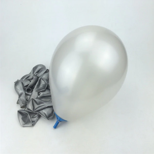 Silver Colored Latex Helium Balloon Perfect Match For Weddings