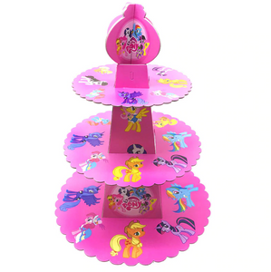 Pony Unicorn Themed Pink Colored Cupcake Party Stand