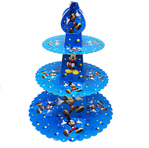 Mickey Mouse Themed Blue Colored Cupcake Party Stand