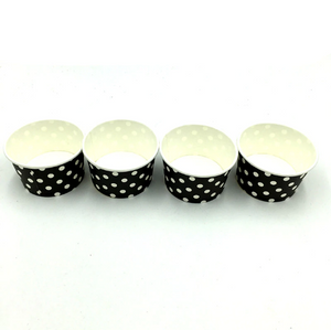 Black Polka dots Themed Ice Cream / Soup Cups