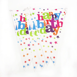 Sparkling Happy Birthday Printed Party Banner