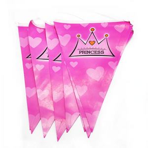 2.5 Meters Long Pink Crown Print Party Banner