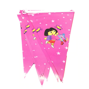 Dora the Explorer Themed  Pink Colored Printed Party Banner