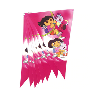 Dora the Explorer Themed Hot Pink Colored Printed Party Banner