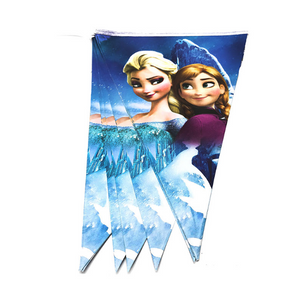 Elsa and Ana Frozen Inspired Printed Party Banner
