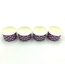 Load image into Gallery viewer, Lavender Polka dots Themed Ice Cream / Soup Cups