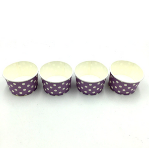 Lavender Polka dots Themed Ice Cream / Soup Cups