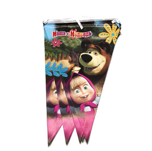 2.5 Meters Long Masha and the Bear Print Party Banner