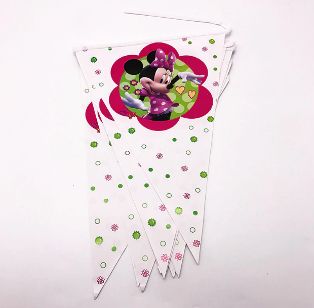 2.5 Meters Long Minnie Mouse Print Party Banner