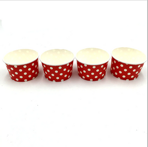 Red Polka dots Themed Ice Cream / Soup Cups