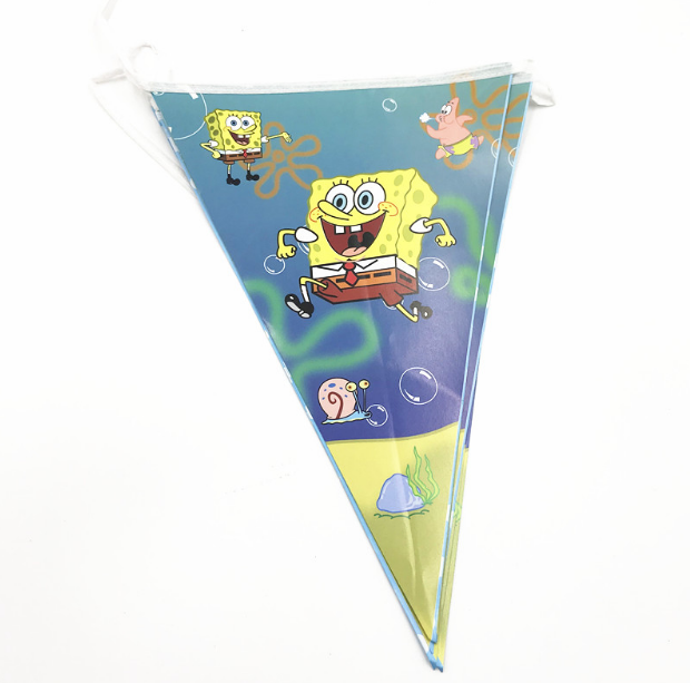 Sponge bob Themed Printed Party Banner